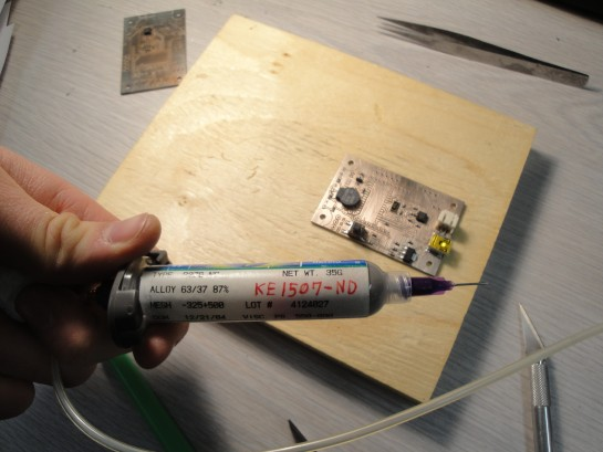 applying solder paste