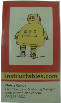 instructable buisness card