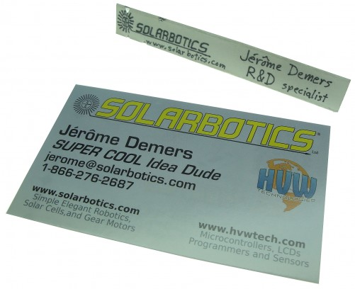 jerome demers buisness card